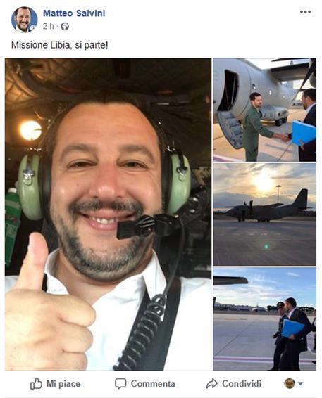 """Salvini: """"Hotspot non in Italia, aiuteremo Tripoli"""""""