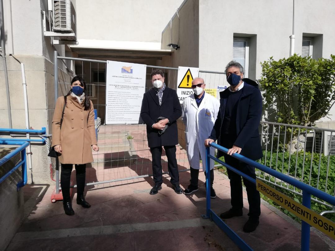Sopralluogo di Cannata (Fdi) nei cantieri dell'ospedale di Avola e al Ponte di Cassibile