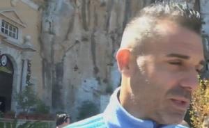 I calciatori del Palermo dopo la salvezza rendono omaggio a Santa Rosalia