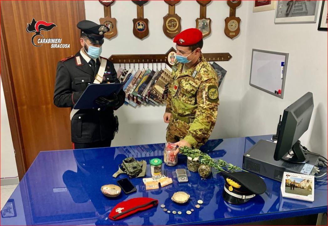Gli trovano marijuana e reperti archeologici, un denunciato a Sortino