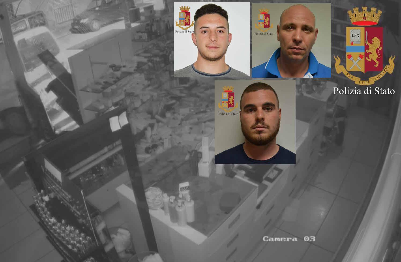 Furto con spaccata in una gioielleria di Pozzallo, tre arresti