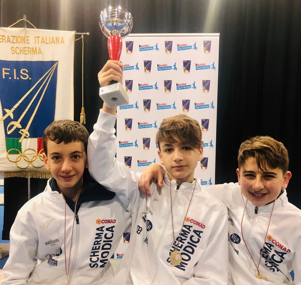Scherma Modica, medaglia d'argento al Gran Prix Nazionale Kinder+Sport di fioretto