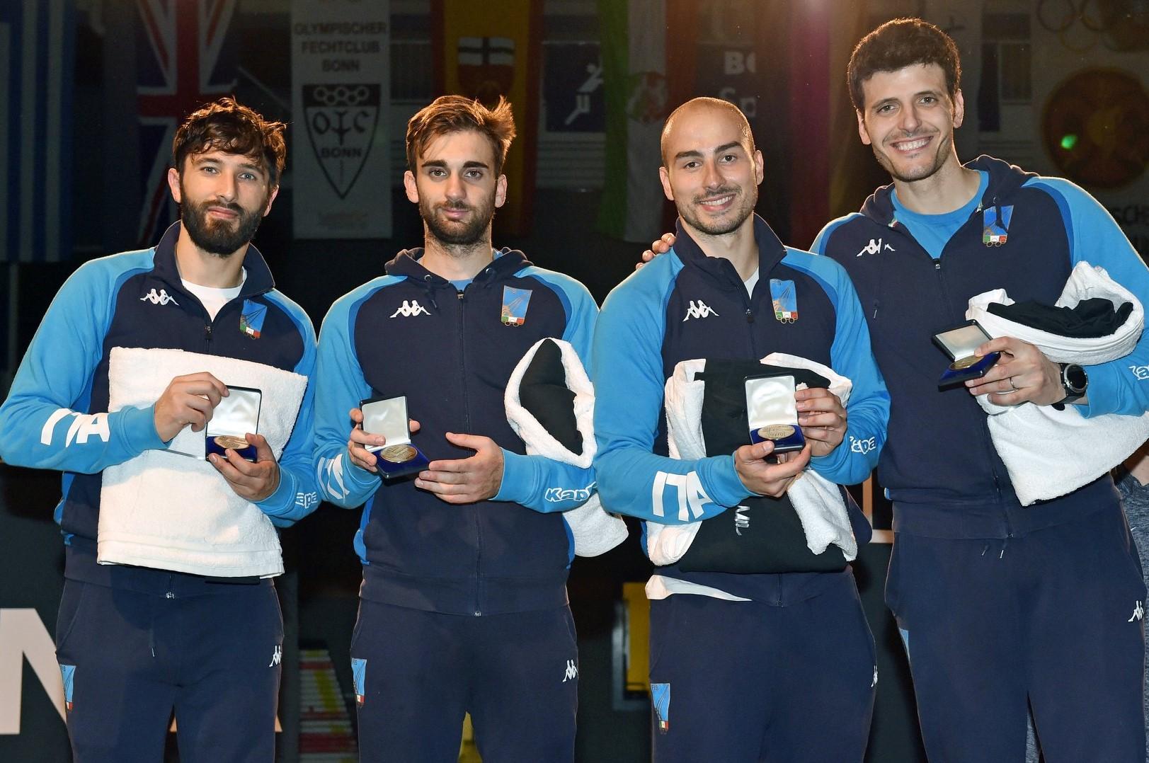 Scherma, argento per il fioretto maschile azzurro nella prima tappa della Coppa del Mondo