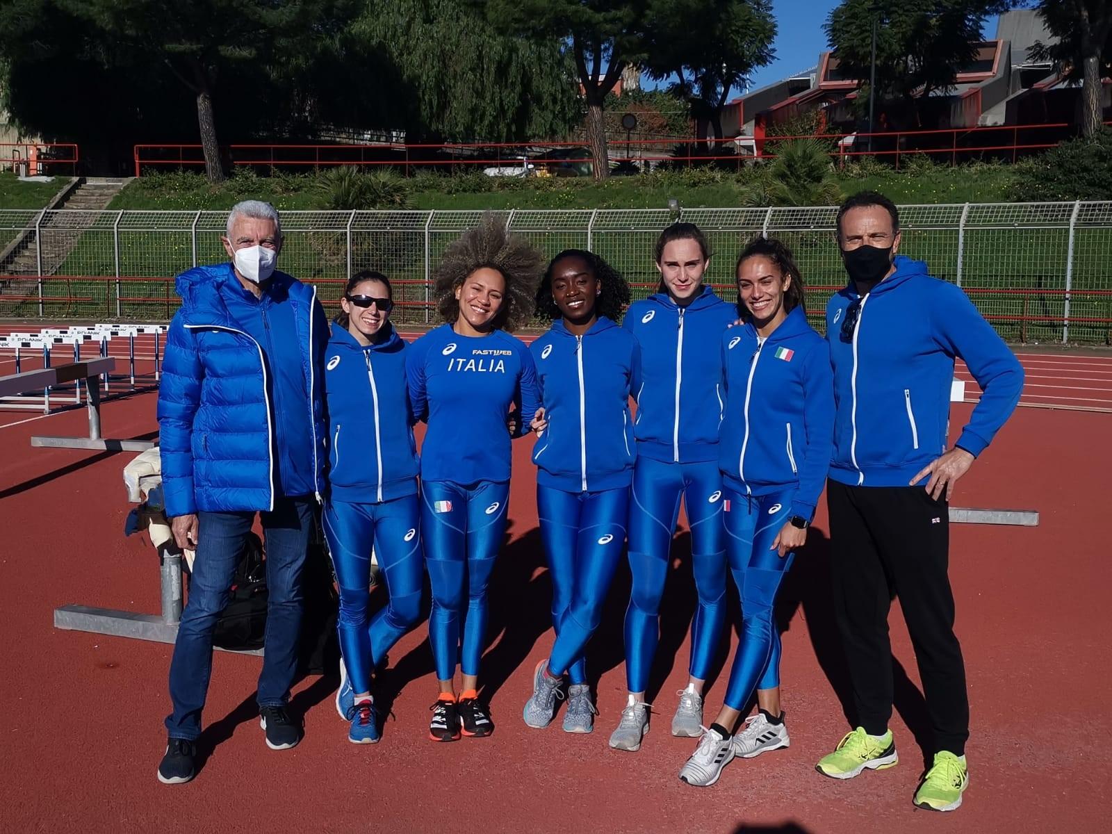 Atletica leggera, le staffettiste azzurre si allenano a Catania in vista di Tokio