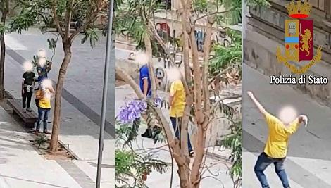 Vandali in azione all'isola pedonale di Vittoria, due denunce