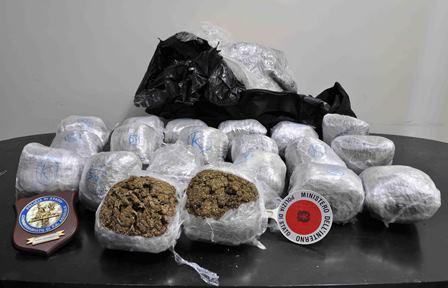 Droga, trovati 20 chili di marijuana ad Acireale: sequestro