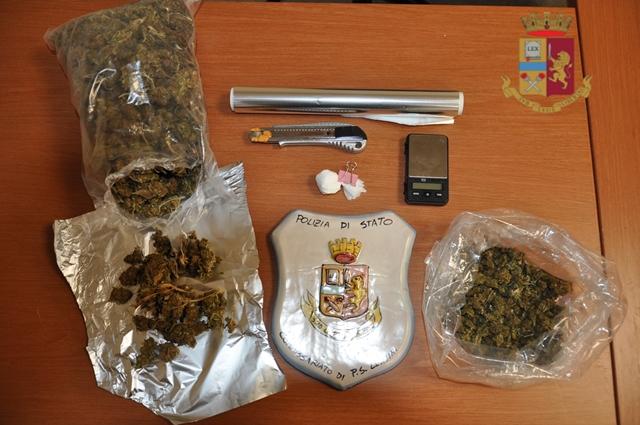 Lentini, marijuana e cocaina in casa: finisce agli arresti domiciliari