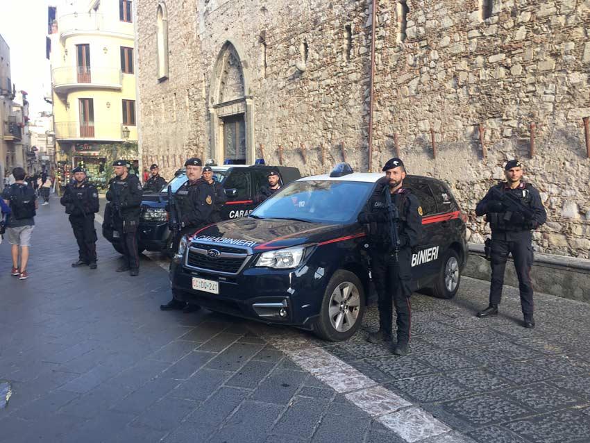 Taormina blindata oggi e domani per il G7 delle Pari Opportunità