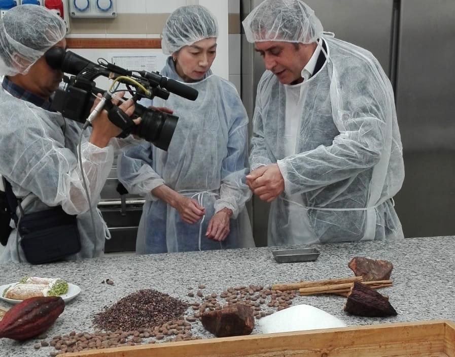 Modica, la Televisione giapponese esalta il cioccolato Bonajuto