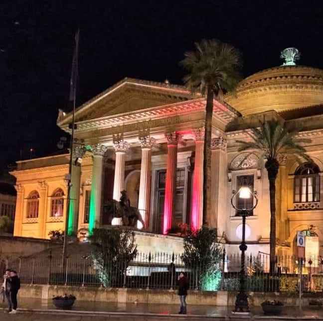 Palermo Capitale Cultura, il Tricolore illumina i Palazzi comunali