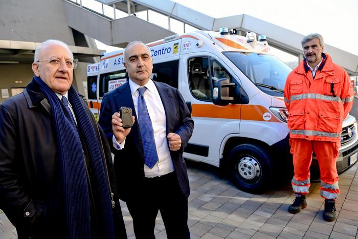 Napoli, al via oggi ambulanze con telecamere e sistemi di allarme