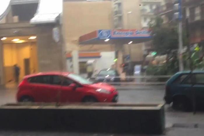 Temporale su Catania, pioggia, fulmini e tuoni anche ad Augusta