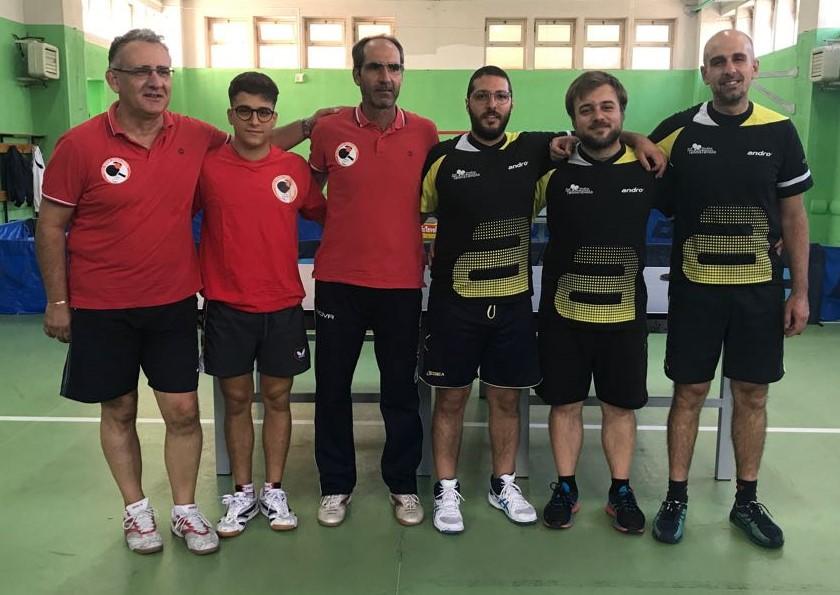 Tennis tavolo, Modica al comando nei campionati di serie D1 e C2