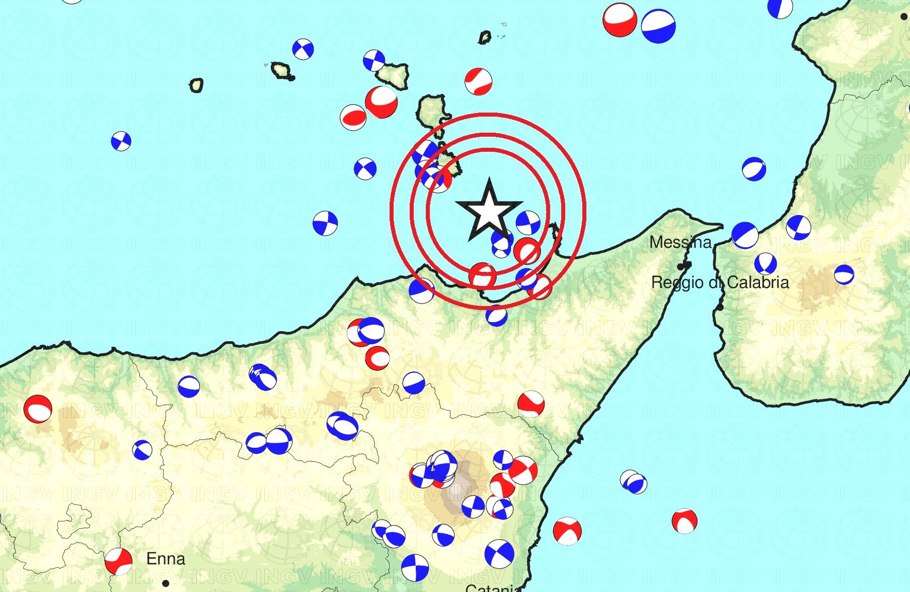 Terremoto di magnitudo 2.9 tra Vulcano e Milazzo
