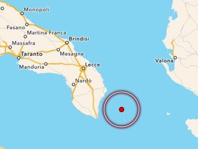 Scossa di terremoto di magnitudo 3.9 nel Salento