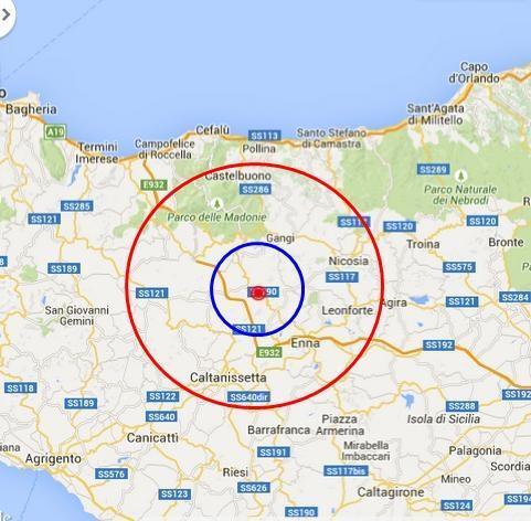 Tre scosse di terremoto in 15 minuti nell'Ennese: la più forte di magnitudo 3.6