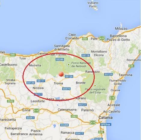 Scossa di terremoto di magnitudo 3.5 sui Nebrodi