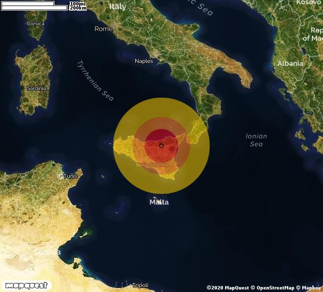 Venti scosse di terremoto in provincia di Enna: epicentro tra Troina e Cerami