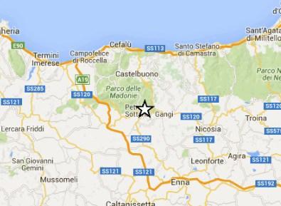 Terremoto nelle Madonie, l'epicentro a Petralia Sottana