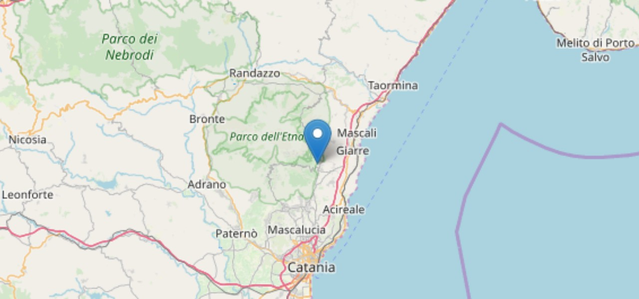 Terremoto di magnitudo 3.3 tra Zafferana Etnea e Milo