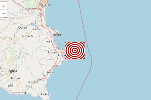 Scossa di terremoto a Siracusa di magnitudo 3.1: avvertita pure a Floridia e Solarino