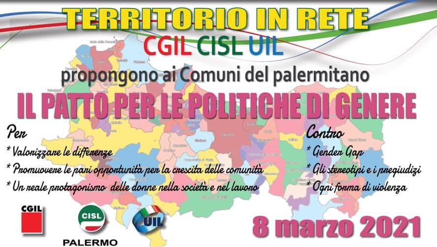 8 marzo, Cgil Cisl e Uil Palermo lanciano il patto per la parità e contro la violenza