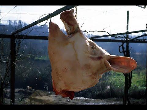 Testa di maiale davanti alla casa del sindaco di Polizzi Generosa