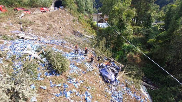 Reggio Calabria, Tir precipita in una scarpata: morto il conducente