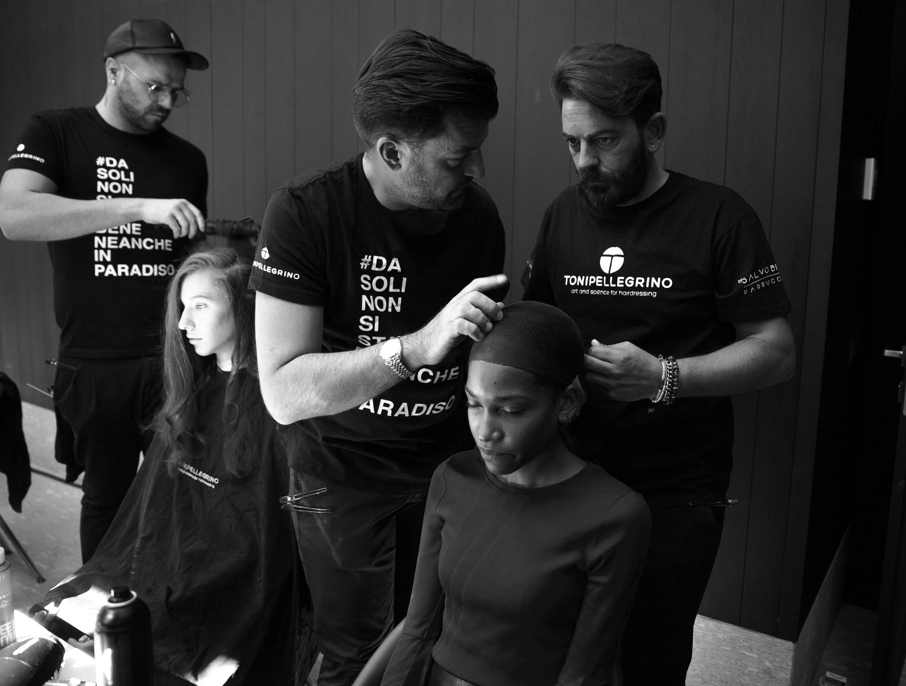 L'hairstylist siciliano Toni Pellegrino scelto da Mario Dice per sfilate milanesi