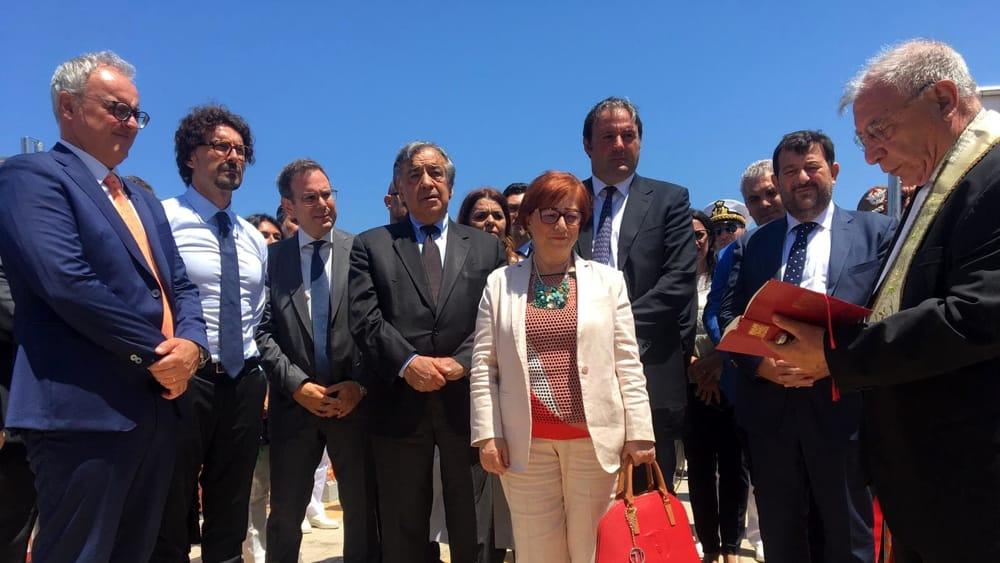 Il ministro Toninelli visita la torre di controllo dell'Enav a Palermo
