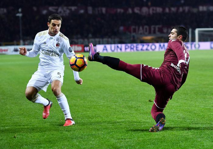 Torino - Milan finisce in parità ( 2 - 2):  rossoneri costretti a rimontare il doppio svantaggio