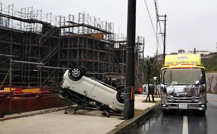 Il tifone Trami sul Giappone: 2 morti e 100 feriti