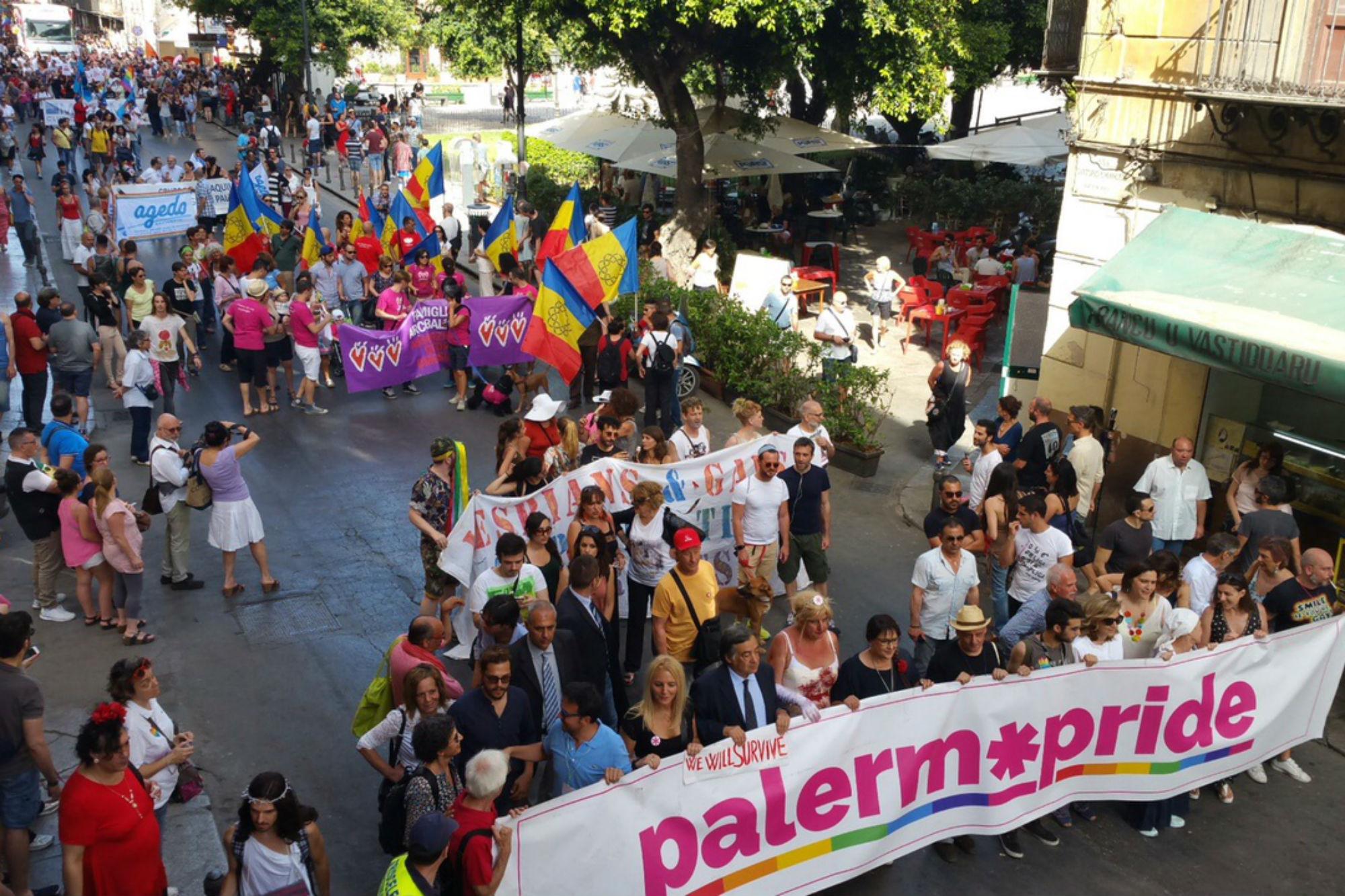 Tutto pronto per il Palermo Pride Village 2018, domani l'inizio