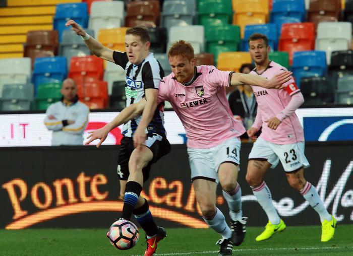 Altra sberla per il Palermo, l'Udinese gli fa quattro gol