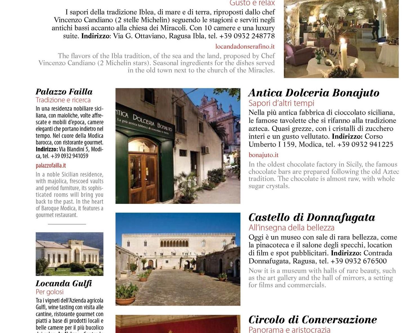 """Modica, eccellenze iblee sul numero di giugno della rivista """"Ulisse"""" di Alitalia"""