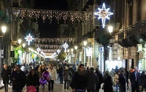 Grande festa natalizia a Catania nell'ultimo fine  settimana