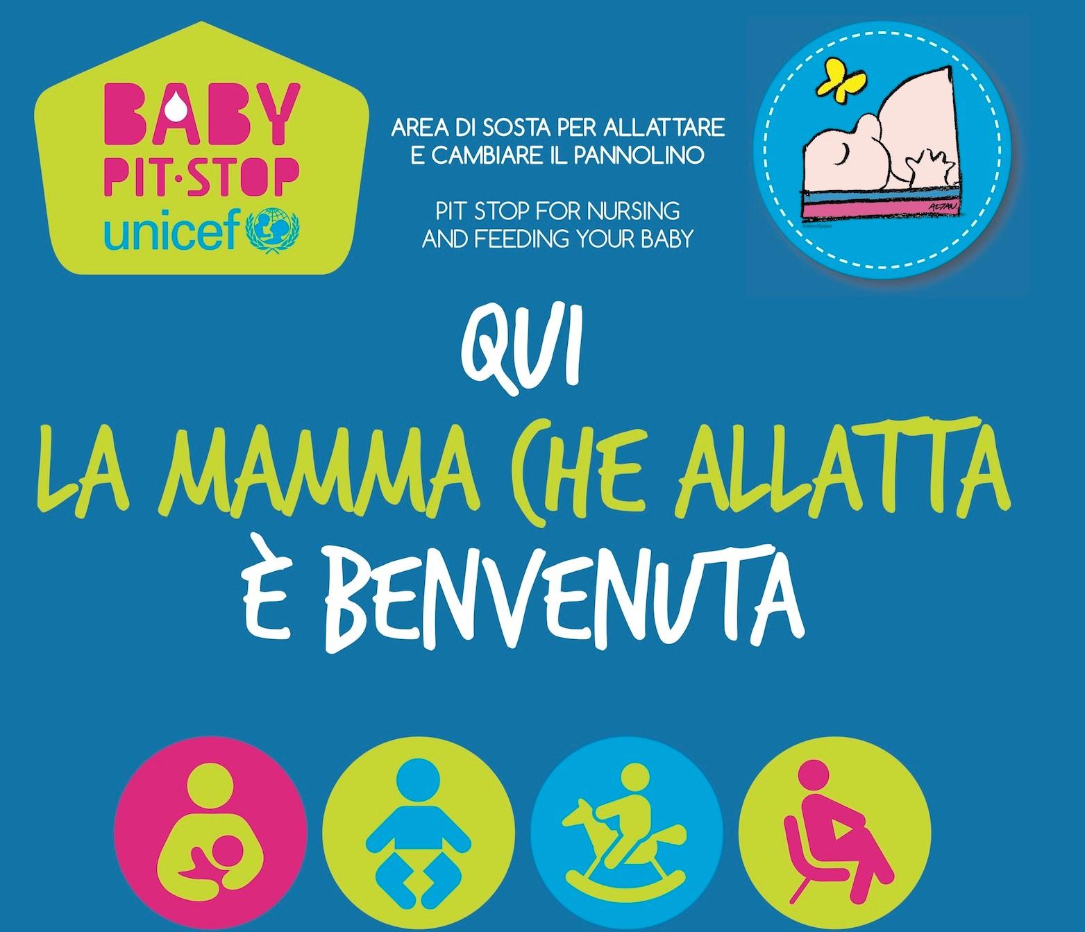 """Ragusa, nasce il """"Baby pit stop"""" Unicef: uno spazio per allattare i bambini"""