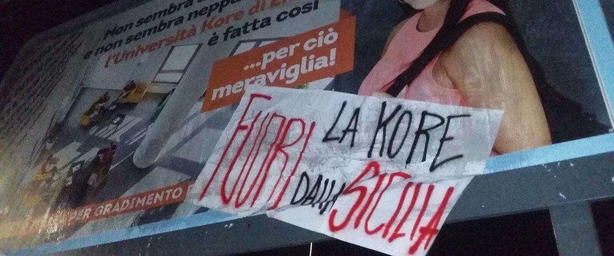 """Protesta contro la Kore di Enna per lo spot """"Non sembra Sicilia"""""""