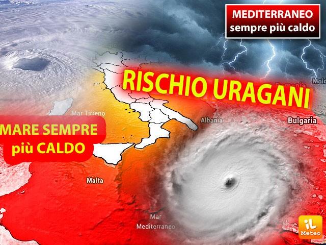 Uragani Mediterranei, sorvegliata Sicilia Sud orientale