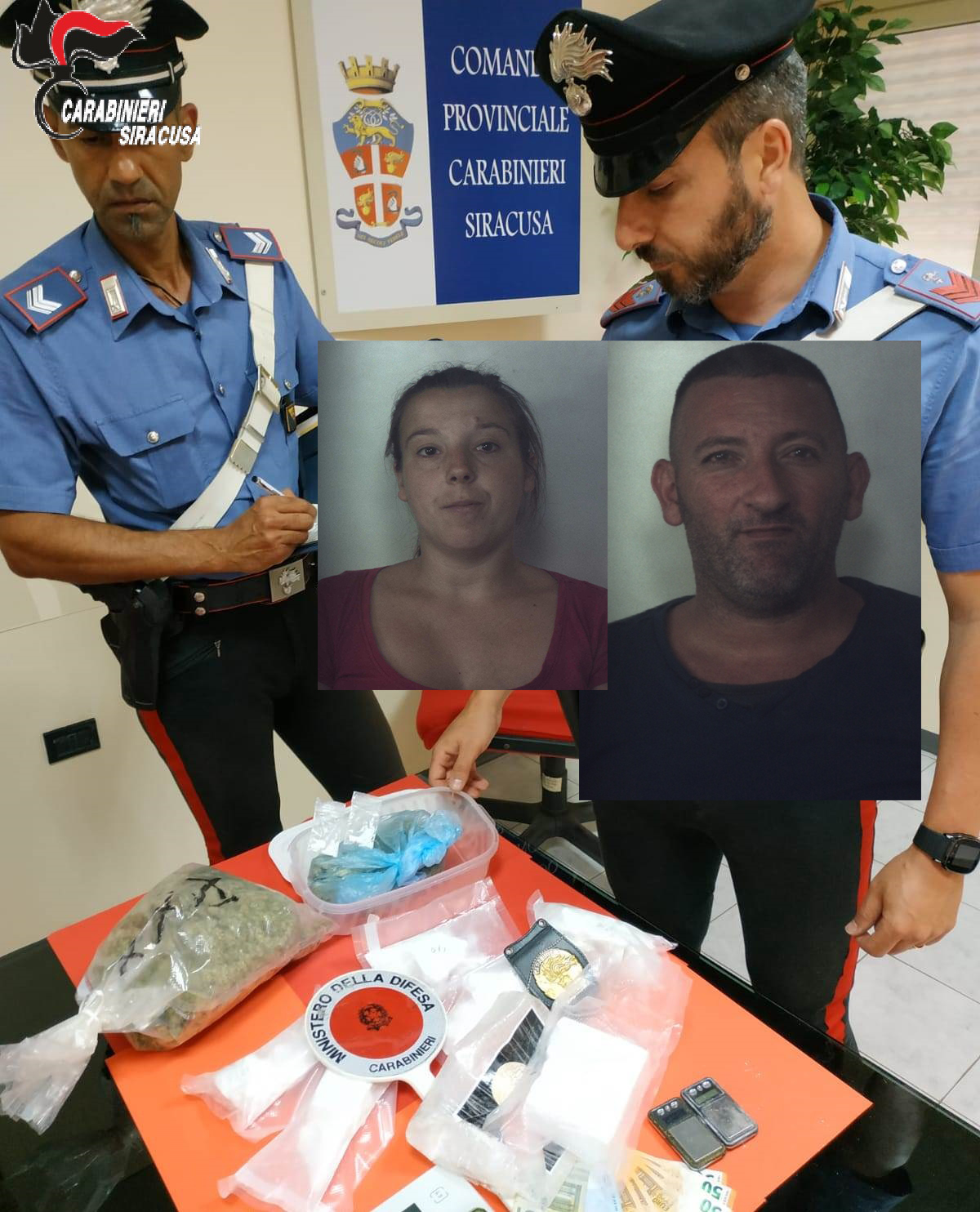 Siracusa, nascondevano un chilo di cocaina in casa: lui in cella, lei ai domiciliari