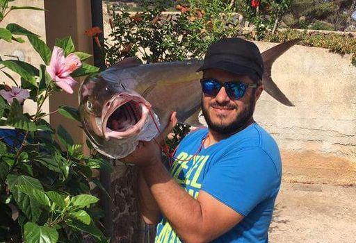 Pesca record nell'isola di Ustica, cattura ricciola da 16 chilogrammi