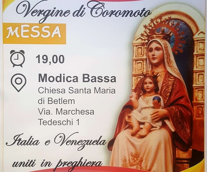 Modica, sabato 14 a Santa Maria una messa per la comunità venezuelana
