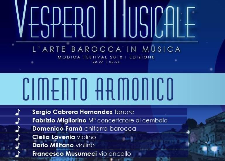 Modica, Vespero musicale: venerdì 10 concerto nell'atrio comunale