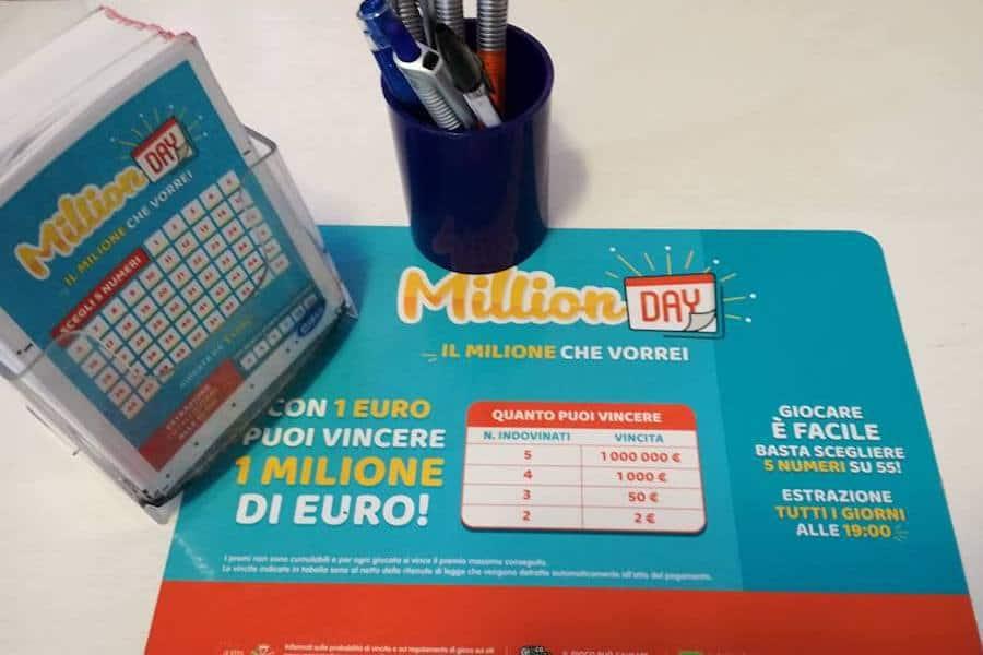 Vincita da 1 milione di euro con MillionDay a Catania