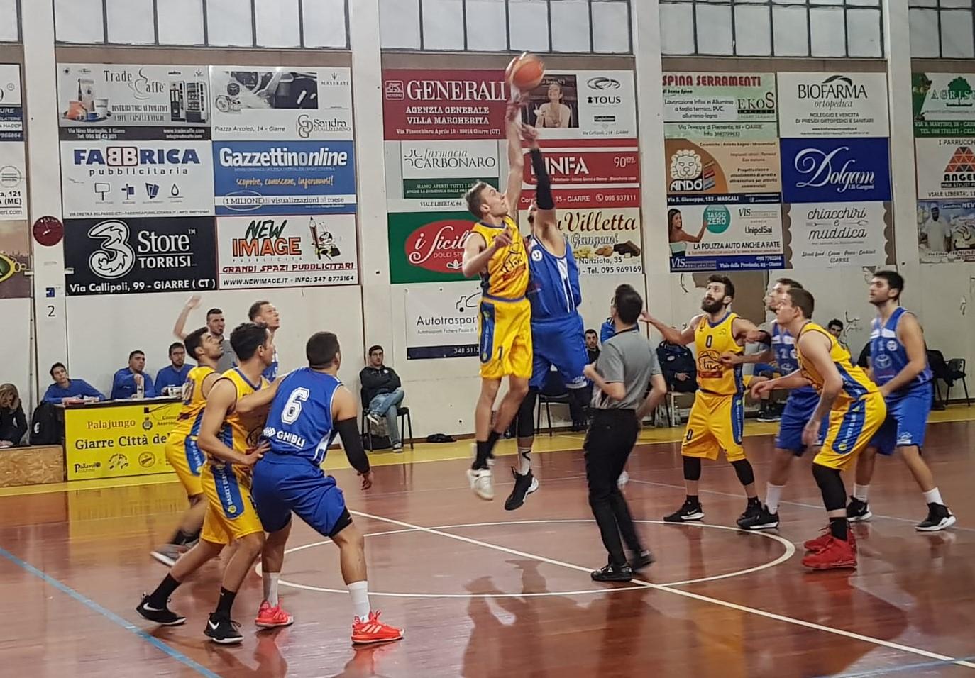 """Basket, serie C Silver: la Virtus Ragusa batte il Giarre """"a domicilio"""" nel turno infrasettimanale"""