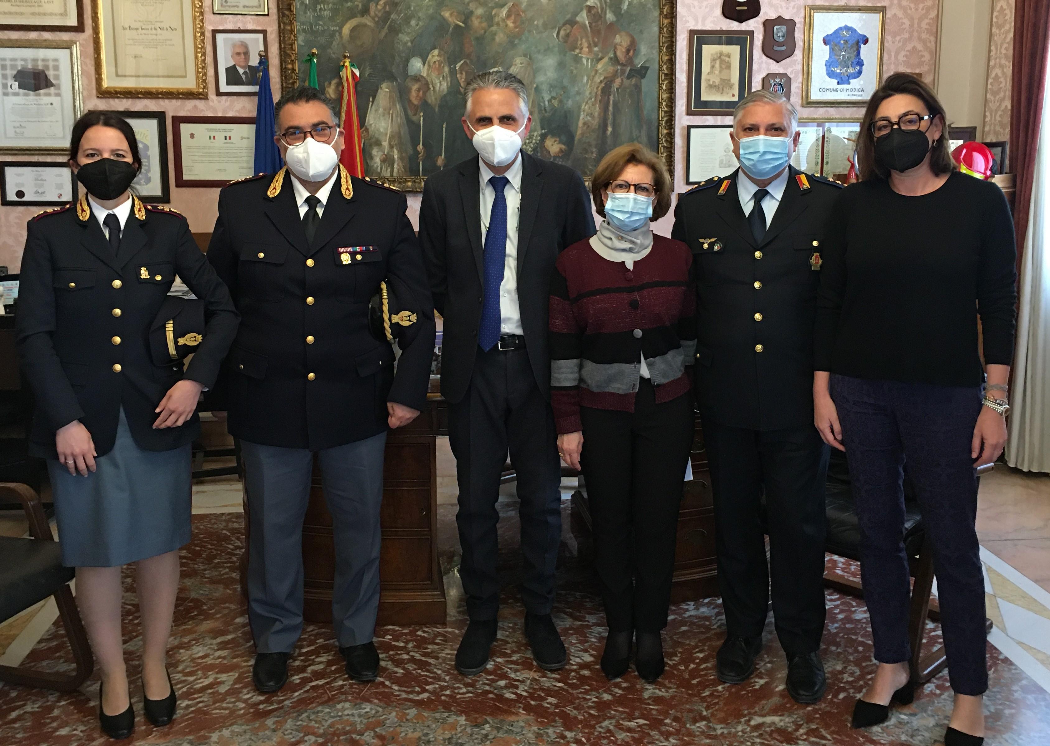 Modica, visita al Comune del nuovo commissario di Polizia Carpintieri