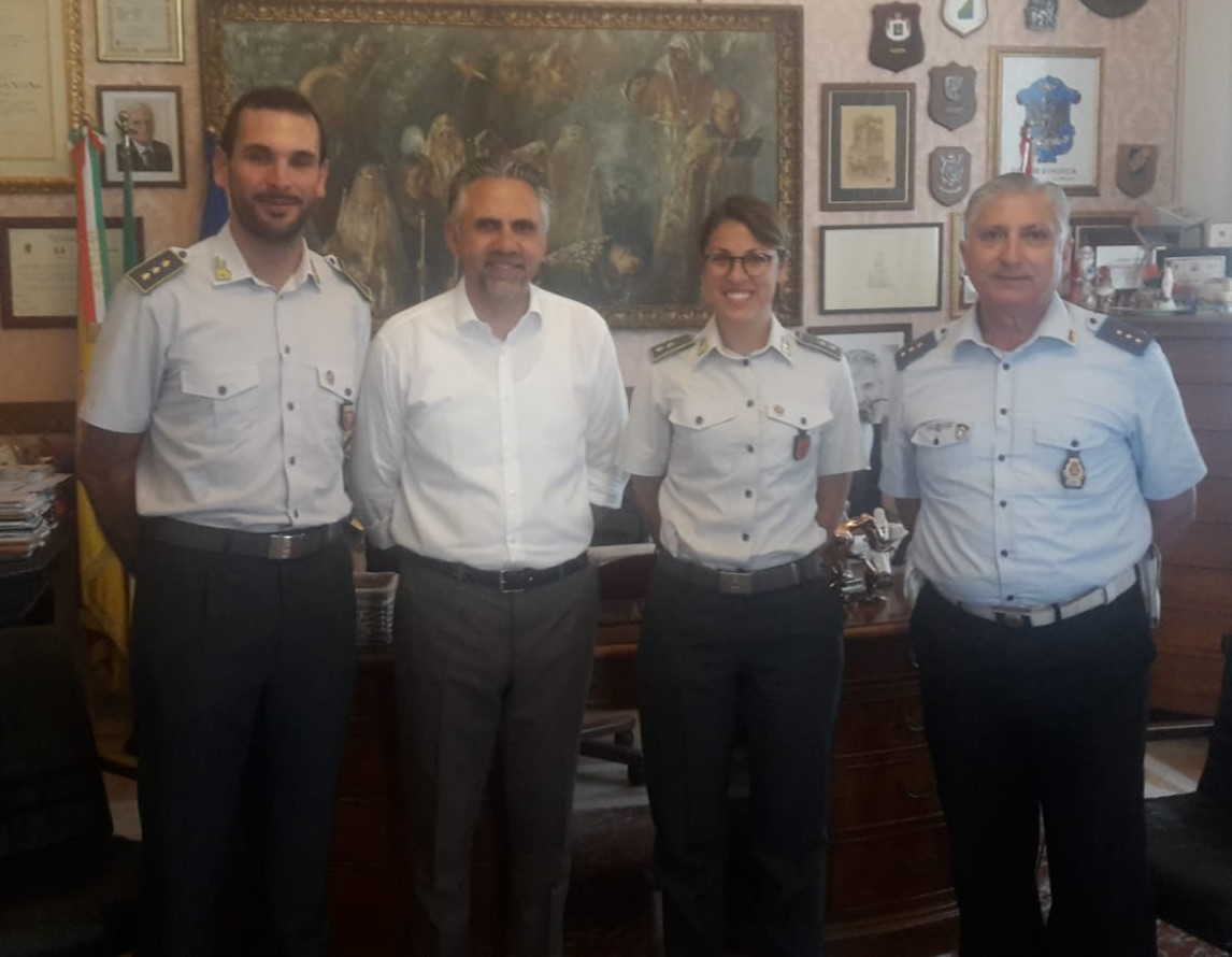 Modica, ricevuto in Comune il nuovo comandante della Finanza