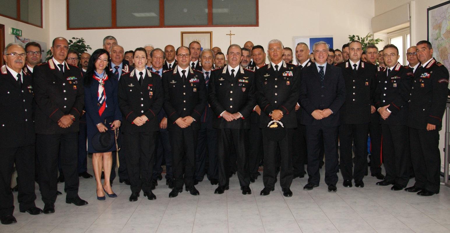 Carabinieri, il generale Robusto in visita a Siarcusa