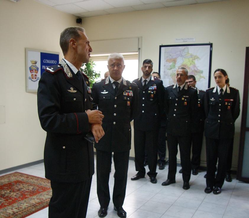 Il generale Galletta in visita al comando dei carabinieri di Siracusa