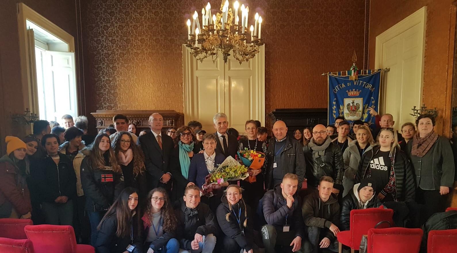 Vittoria, studenti e docenti del progetto Erasmus ospiti a Palazzo di città